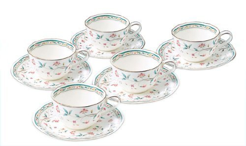 5 Customer Set F59387A/4409 Bone China Flower Calico Tea And Coffee Bowl Dish (Japan Import) By Noritake