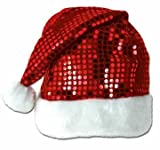 Sequin-Sheen Santa Hat Party Accessory (1 count) (1 Pkg)