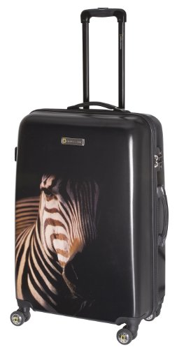 National Geographic Luggage Balboa 29 Inch Hardside Spinner, Black Zebra, One Size special discount