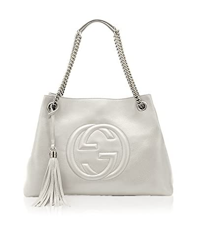 Gucci Women's Leather Tote, Off-White
