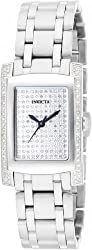 Invicta 15629 Women's Angel Quartz Diamond Pave Dial Stainless Steel Bracelet Watch