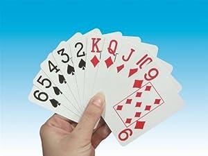 Groß Bedruckte Spielkarten - Rote Rückseite