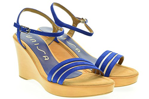 UNISA donna sandali con la zeppa RUFUS_KS ELECT. BLUE 38 Blu