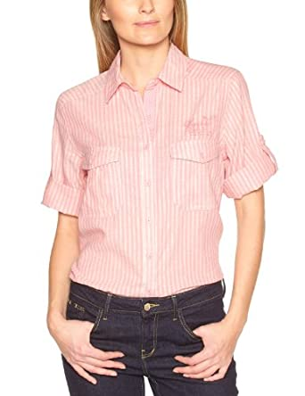 Kaporal Damen Shirt  MODSE13W4, Kent  - Mehrfarbig - Multicolore (Pinstr) - 36 (Herstellergröße: M)