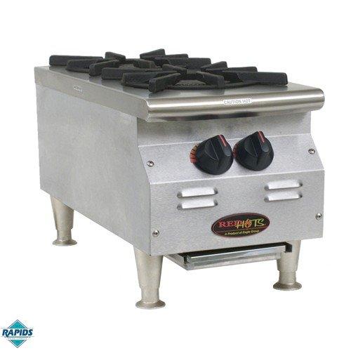 Eagle Gas Hot Plate, 2 Burner 9E883