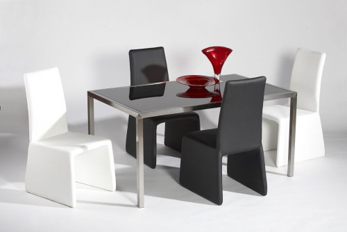 Cheap Contemporary Glass Top Table (HILARY-DT)