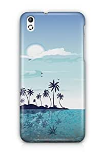 YuBingo Beach and Sky Mobile Case Back Cover for HTC Desire 816