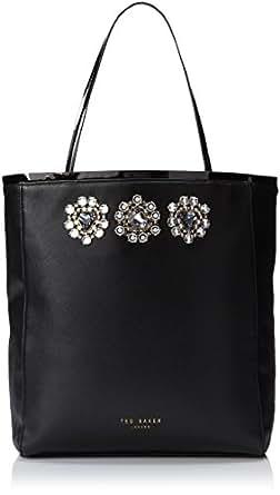 Ted Baker Gemmina Jeweled Detail Shopper Shoulder Bag,Black,One Size
