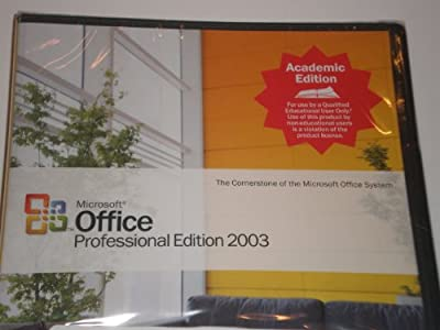 Microsoft Office Professional Edition 2003 Academic Edition with Business Contact Manager