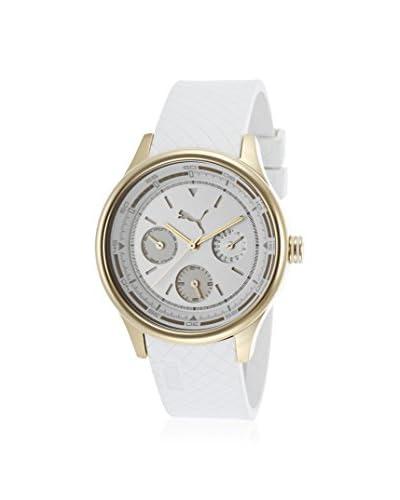 PUMA Women's PU102742003 Wheel White Rubber Watch