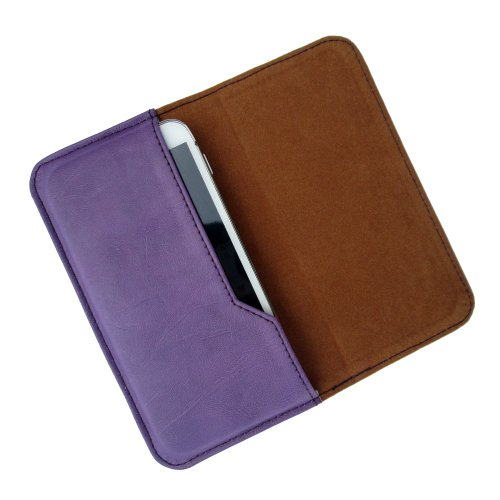 i-KitPit : PU Leather Flip Pouch Case Cover For Lenovo RocStar A319 (PURPLE)