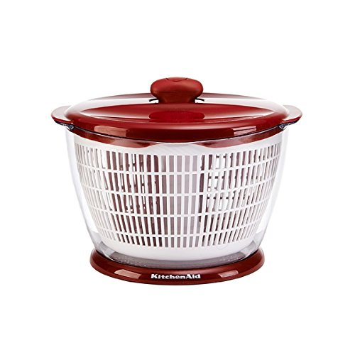 Kitchen Aid Salad Spinner Red ( Materials: Plastic ABS ) (Kitchenaid Salad Spinner compare prices)