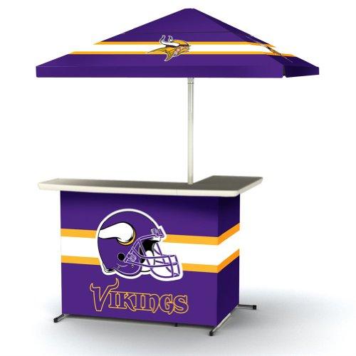 Nfl Minnesota Vikings Portable Wheeled Travel Bag L-Shape Umbrella Basic Bar