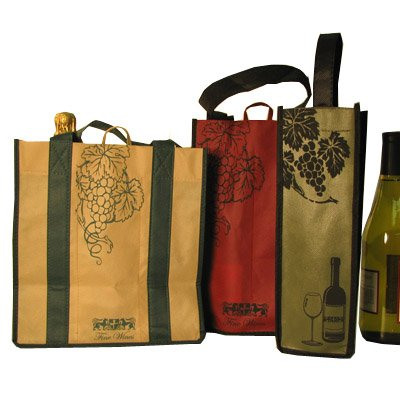 6 Earthwise Reusable Recyclable Wine Totes Shopping Bags