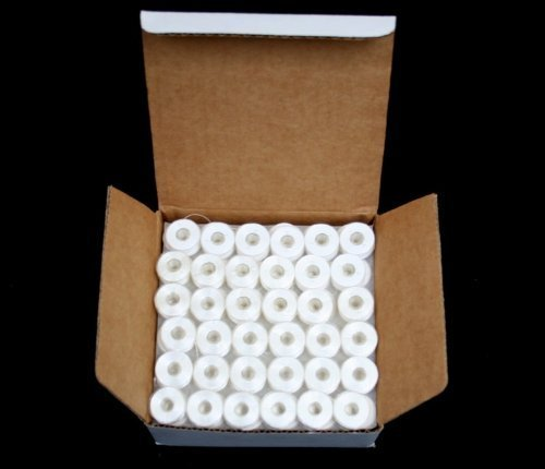 144 White PreWound Bobbins for Embroidery Machines Size A (SA156) Plastic Sided for BROTHER, Babylock, Janome Embroidery Machines (Bobbins For Brother Pe770 compare prices)