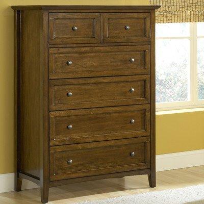 Modus Furniture International Paragon 5-Drawer Chest, Truffle front-602143