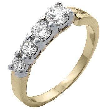TqwSH020ZCA T9 CZ 4 Diamond Classic Anniversary Ring (10)