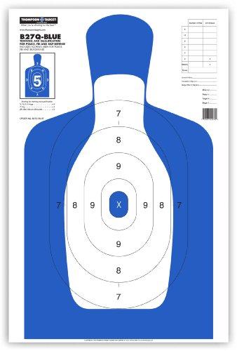 B27Q-Blue Human Silhouette - Paper Gun Range Shooting Targets 25x38 Inch (25 Pack) (Fbi Target compare prices)
