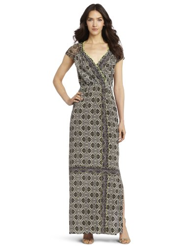 Twelfth Street by Cynthia Vincent Women's Gathered Shoulder Maxi Dress, Camanche, Medium