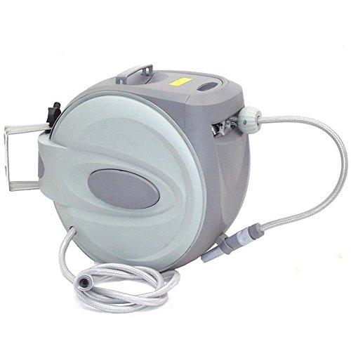 Automatischer-Schlauchaufroller-CRAVOG-Schwenkbare-Schlauchtrommel-inclusive-Wasserschlauch-mit--Zoll-Anschluss-fr-Garten-20m