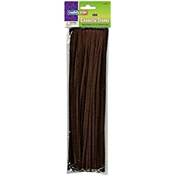 "Creativity Street Chenille Stetems/Pipe Cleaners 12"" x 4mm 100-Piece, Brown"