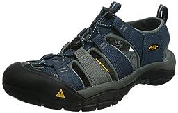 KEEN Men\'s Newport H2 Sandal, Midnight Navy/Neutral Gray, 9 M US