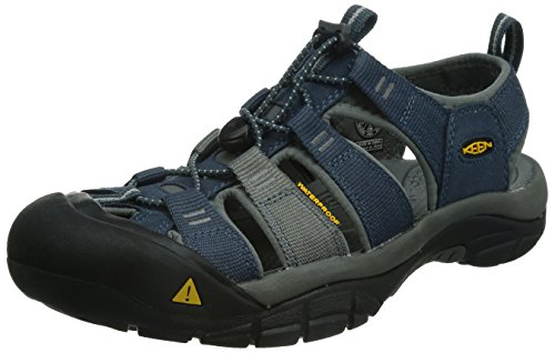 KEEN Men's Newport H2 Sandal, Midnight Navy/Neutral Gray, 8.5 M US