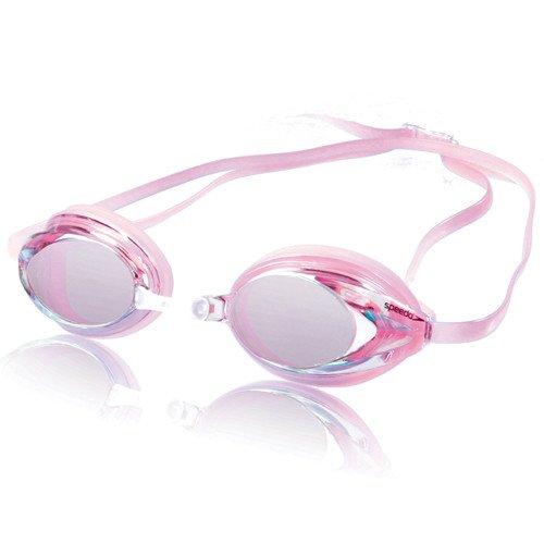 Speedo Women's Vanquisher Mirrored Goggle - Pink