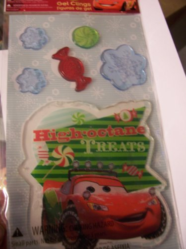 Disney Cars Christmas Gel Clings ~ High Octane Treats (6 Clings) - 1