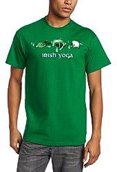 T-Line Men's Humor Irish Yoga T-Shirt