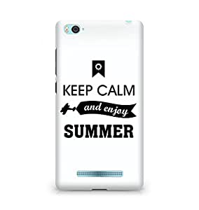 Amez Keey Calm and Enjoy Summer Back Cover For Xiaomi Mi4i