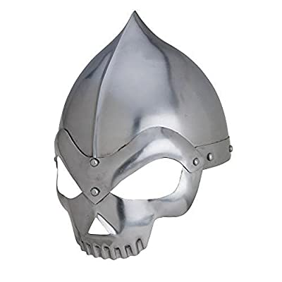 Knight Skull Crusher Medieval Wearable Steel Helmet with Liner
