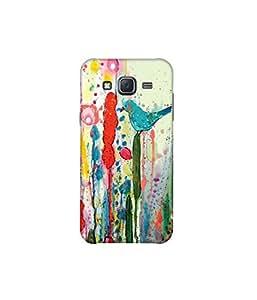 Kolor Edge Printed Back Cover For Samsung Galaxy On5 - Multicolor (8021-Ke10051SamOn5Sub)