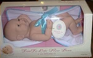 True To Life Realistic Newborn Vinyl Baby Doll