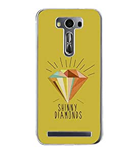 Diamond Clipart 2D Hard Polycarbonate Designer Back Case Cover for Asus Zenfone Selfie ZD551KL