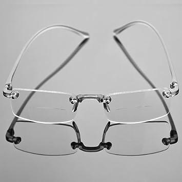 Rimless Fashion Glasses Clear X Bifocal Fashion Stylish