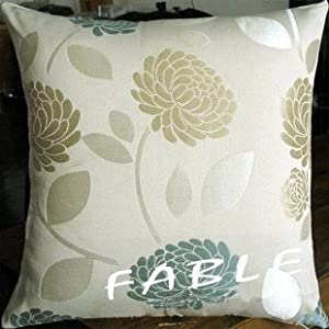 Light Blue Throw Pillow Covers : Amazon.com - ElleWeiDeco Beige Light Blue Floral Throw Pillow Cover - Accent Pillows For Sofa