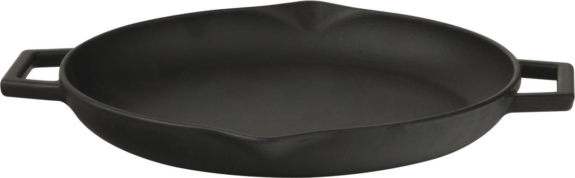 Lava Signature Cast-Iron Frying /Grill Pan with Iron handles- 12 inch, Slate Black 5 cast iron caster universal swivel castor with brake