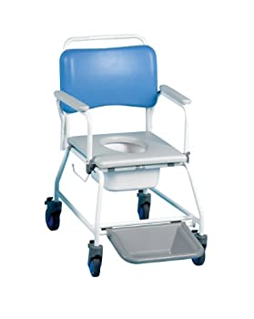 """Commode & Shower Chair Atlantic 18"""" With F/Rests & Disp Pan by Patterson Medical"""