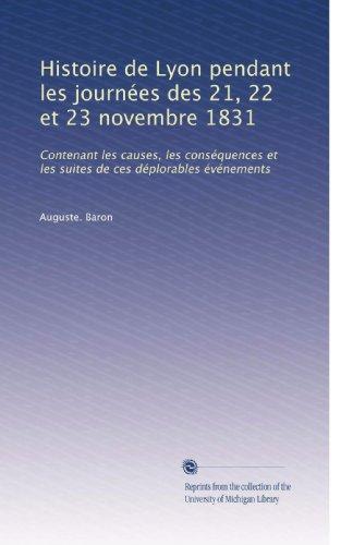 Histoire de Lyon pendant les journ PDF