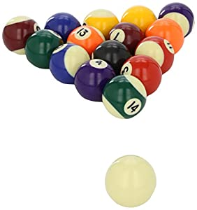 Powerglide 16 Clam Packed Striped Pool Ball Unisex 1 inch 7/8' - Various, 48 mm