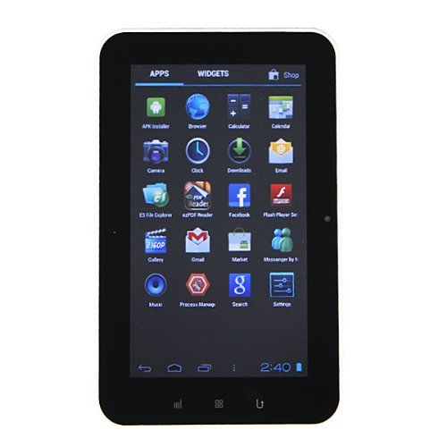 Android 4.0 7 inch Touch Screen Tablet PC (512 MB DDR3, 4GB NAND FLASH, WIFI, HDMI 1080P)