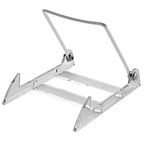 Gibson Holders 2PL Display Stand with Clear Base, Medium, White, 12-Pack (Plastic Plate Stand compare prices)