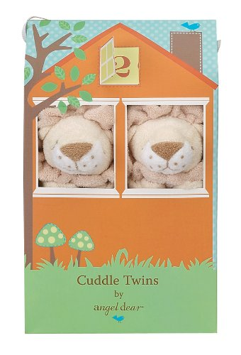 Angel Dear Cuddle Twin Set, Yellow Lion