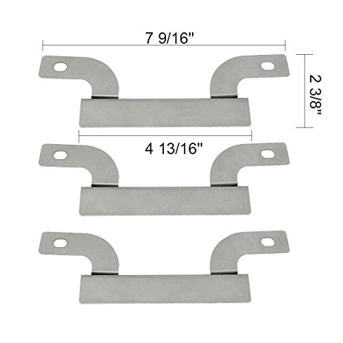 """BOBIN (3-Pack) 09425 Stainless Steel Cross-over Tube Burner Replacement for Select Gas Grill Models by Brinkmann, Charmglow and Others (7 9/16""""x 2 3/8"""")"""