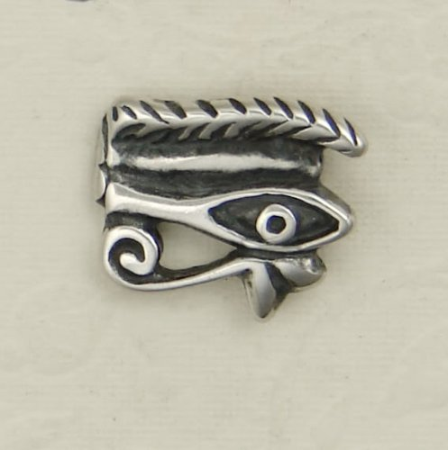 The Mysterious Eye of Horus Earring in Sterling Silver, A Single...Why Buy Two, When One Will Do?