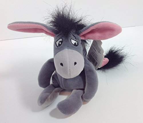 Disney Bean Bag Plush Eeyore Gray Color 9""