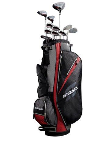 callaway strata set de golf 16 pi ces pour homme fibre de carbone acier noir noir rouge 8 kg. Black Bedroom Furniture Sets. Home Design Ideas