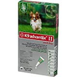 Bayer K9 Advantix II Green 4-Month Flea & Tick Drops for Small Dogs, 0-10 lbs.