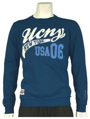 New Mens UCNY Crew Neck College Style Sweatshirt, In Navy Size Medium - Style Tarra - C606588